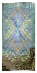 Hand Towel featuring the digital art Chalice-tree Spirt In The Forest V2 by Christopher Pringer