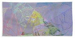 Chalkboard Bath Towel by David Bridburg
