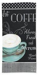 Chalkboard Retro Coffee Shop 1 Hand Towel