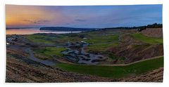 Chambers Bay Sunset Review Hand Towel