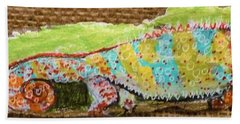 Chameleon Bath Towel by Ann Michelle Swadener