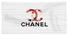 Chanel Floral On Wood Bath Towel