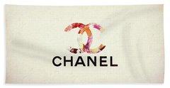 Chanel Floral Texture  Bath Towel