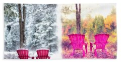 Changing Seasons Anderson Pond Eastman Grantham New Hampshire Bath Towel