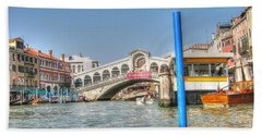 Channels Venice Hand Towel by Yury Bashkin