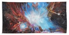 Hand Towel featuring the painting Chaos In Orion by Ken Ahlering