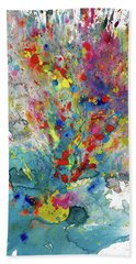 Bath Towel featuring the painting Chaotic Craziness Series 1987.032914 by Kris Haas