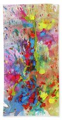 Bath Towel featuring the painting Chaotic Craziness Series 1988.033014 by Kris Haas