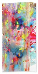 Bath Towel featuring the painting Chaotic Craziness Series 1990.033014 by Kris Haas