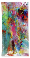 Bath Towel featuring the painting Chaotic Craziness Series 1991.033014 by Kris Haas