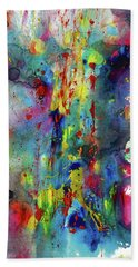 Bath Towel featuring the painting Chaotic Craziness Series 1993.033014 by Kris Haas