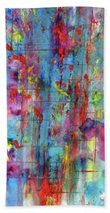 Bath Towel featuring the painting Chaotic Craziness Series 1994.033014 by Kris Haas