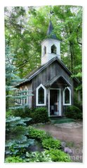 Hand Towel featuring the photograph Chapel In The Woods by Joel Witmeyer