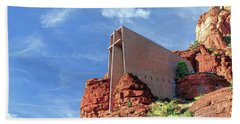 Hand Towel featuring the digital art Chapel Of The Holy Cross by Kai Saarto