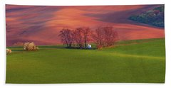 Hand Towel featuring the photograph Chapel St Barbara. Moravian Tuscany by Jenny Rainbow