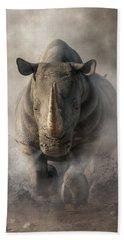 Charging Rhino Hand Towel