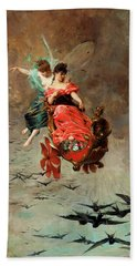 Chariot Of Swallows Hand Towel by Alexander Louis Leloir