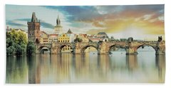 Charles Bridge Bath Towel by Maciek Froncisz