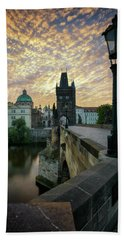 Charles Bridge, Prague, Czech Republic Bath Towel