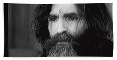 Charles Manson Screen Capture Circa 1970-2015 Hand Towel