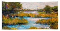 Hand Towel featuring the painting Charleston City Limits by Alan Lakin
