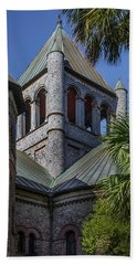 Bath Towel featuring the photograph Charleston Historic Church by James Woody