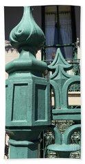 Charleston John Rutledge House Fleur De Lis Symbols - French Quarter Architecture Gate Posts Hand Towel