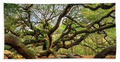 Charleston Sc Angel Oak Tree South Carolina Landscape Hand Towel
