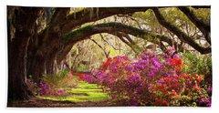 Charleston Sc Magnolia Plantation Gardens - Memory Lane Hand Towel