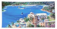 Charlotte Amalie Marriott Frenchmans Beach Resort St. Thomas Us Virgin Island Aerial Bath Towel