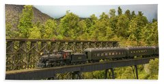 Charlotte Harbor And Northern Railroad Hand Towel by John Black