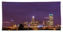Charlotte, North Carolina Sunrise Hand Towel by Serge Skiba