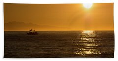 Charm Of A Sunset Bath Towel by Sabine Edrissi