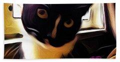 Charmed By My Beloved Cat Bath Towel