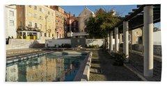 Charming Lisbon - Miradouro De Santa Luzia Morning Reflections Bath Towel