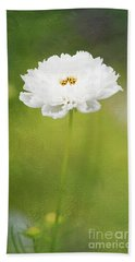 Charming White Cosmos Bath Towel