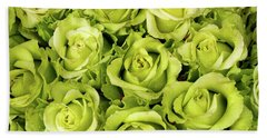 Chartreuse Colored Roses Hand Towel