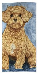 Chase The Maltipoo Hand Towel