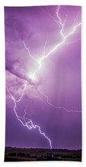 Chasing Nebraska Lightning 018 Hand Towel