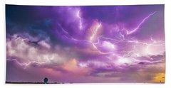 Chasing Nebraska Lightning 056 Bath Towel