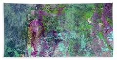 Chasing The Dream - Contemporary Colorful Abstract Art Painting Bath Towel