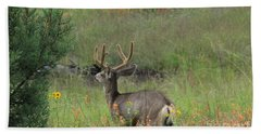 Bath Towel featuring the photograph Chasing Velvet Antlers 7 by Natalie Ortiz
