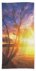 Bath Towel featuring the photograph Chatfield Lake Sunset by Darren White