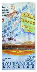 Chattanooga Historic Baseball Poster Hand Towel