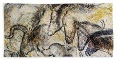 Chauvet Horses Aurochs And Rhinoceros Bath Towel