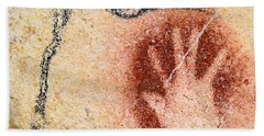 Chauvet Red Hand And Mammoth Bath Towel