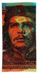 Che Guevara 3 Peso Cuban Bank Note - #1 Bath Towel
