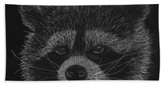 Cheeky Little Guy - Racoon Pastel Drawing Hand Towel