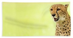 Cheetah Close-up Website Banner Hand Towel