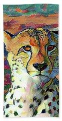 Cheetah Face Hand Towel